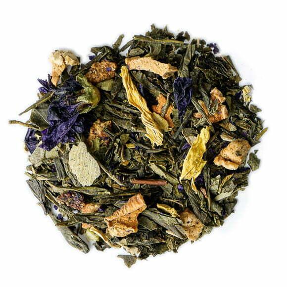 Jardin des sages, thé vert parfumé - les thés OCHAYA