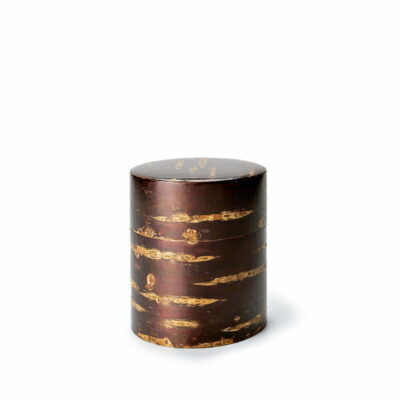 Boîte à thé japonaise métal et bois de cerisier